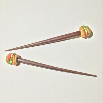 Cheeseburger Hair Sticks