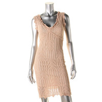 Guess Womens Knit Metallic Sweaterdress