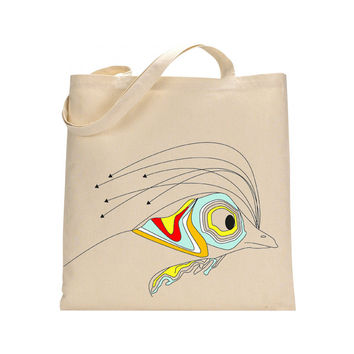Colourful rooster tote bag