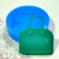 Handbag Flexible Silicone Push Mold Clay Push Mold Mini Resin Mold Cake Decoration
