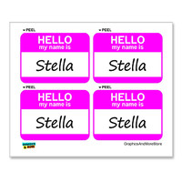 Stella Hello My Name Is - Sheet of 4 Stickers