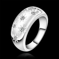 Glittery Wide Silver Ring
