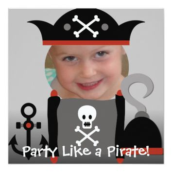 Pirates Girl Party Like a Pirate Birthday Invites
