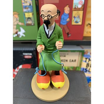 Professor Calculus With Motorized Skates Resin Figure