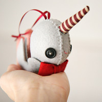 Skunkboy Creatures — Narwhal Ornament