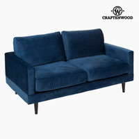 Cos blue two-seater sofa by Craftenwood
