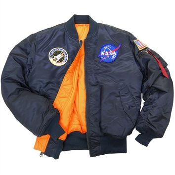 Alpha Industries NASA MA-1 Flight Jacket : Men's Flight Jackets