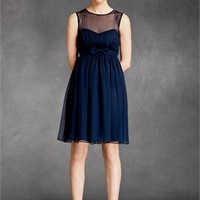 Bateau dark navy tulle Homecoming Dress HCD044