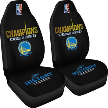 Golden State Warriors Car Seat Cover 2pcs 2018 NBA Champions Seat Covers