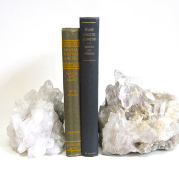 Crystal Bookends - Pair of large crystal bookends