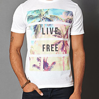 Live Free Cotton-Blend Tee