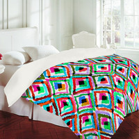 DENY Designs Home Accessories | Amy Sia Watercolor Ikat 1 Duvet Cover