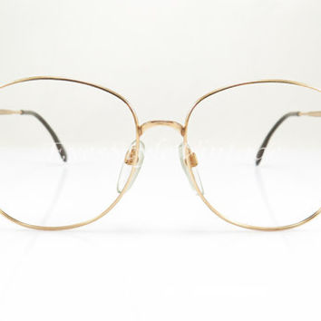 Silhouette , , Vintage Eyeglasses , Gold , Aviator , New Old Stock, Vintage, Eyeglass , Eyeglasses , Sunglasses, Frames