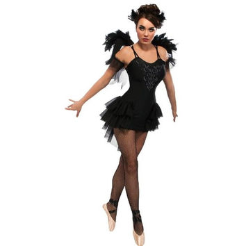 Rubie's Womens Black Swan Halloween Party Dress Costume