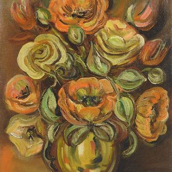 Midcentury Floral Still Life Painting