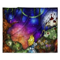 "Mandie Manzano ""Fairy Tale Alice in Wonderland"" Fleece Throw Blanket"