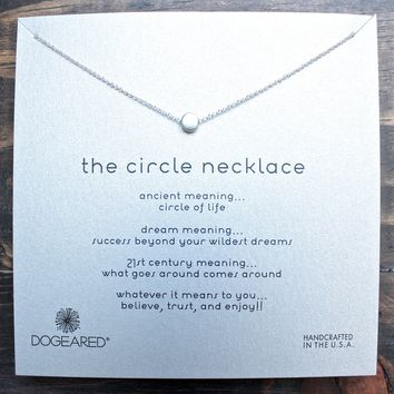 dogeared reminder 'dainty minimalist circle necklace', sterling silver