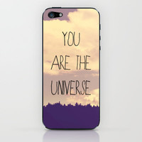 You Are The Universe  iPhone & iPod Skin by Rachel Burbee