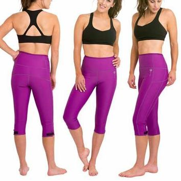 DELFIN SPA Heat Maximizing Capris - Purple