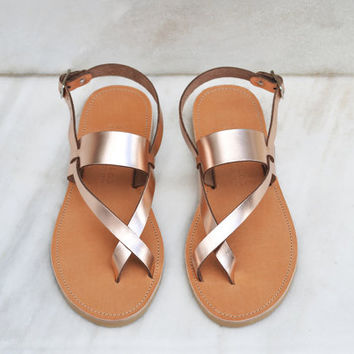 ITHAKI, Leather sandals, Cross strap gladiator sandals women, Greek sandals, Women's shoes