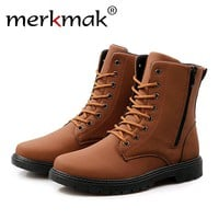 new Men Autumn Winter Fur Warm Boot size 7810