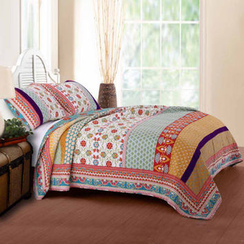 Greenland Home Fashions Thalia Bohemian Quilt Set - JCPenney