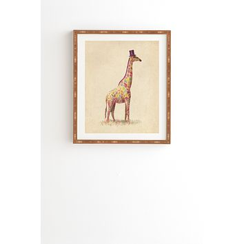 Terry Fan Fashionable Giraffe Framed Wall Art