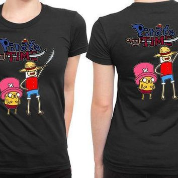 Adventure Time Piratetime Anime 2 Sided Womens T Shirt