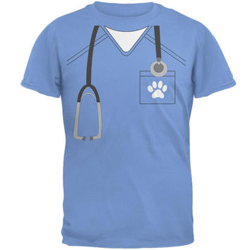 Halloween Vet Veterinarian Scrubs Costume Mens T Shirt