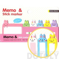Adorable Bunny Rabbit Shaped Animal Memo Pad Post-it Index Sticky Pad | Design A