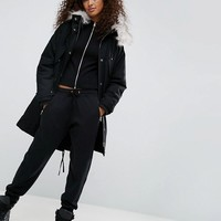 ASOS Oversized Parka with Padded Liner at asos.com