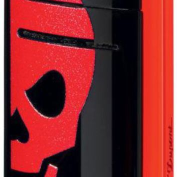ST  Dupont Sleek Modern Mini Jet Minijet Red Skull Torch Flame Cigarette Lighter