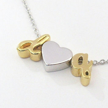 Custom Letter Charm Necklace X