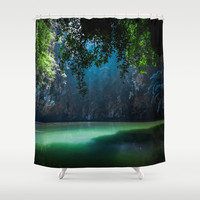 Lagoon Shower Curtain by nicklasgustafsson