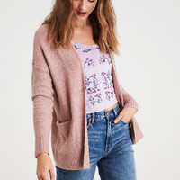 AE LACE BACK CARDIGAN, Rose