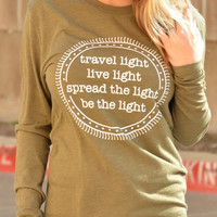 Travel Light Long Sleeve Tee