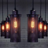 Hot DIY Vintage Industrial Lighting Ceiling Lamp Light Chandelier Pendant Lamps Festive Decor Accessories