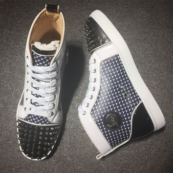 Cl Christian Louboutin Lou Spikes Style #2179 Sneakers Fashion Shoes