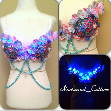 Light Up Fairy Rave Bra