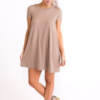 Not That Type Basic Dress (Taupe)