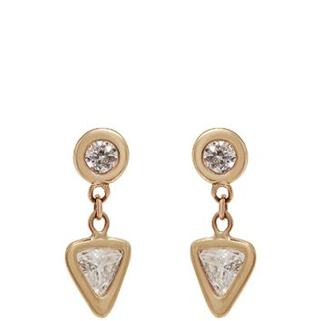 Diamond & yellow-gold earrings | Jacquie Aiche | MATCHESFASHION.COM US