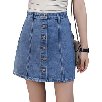 Adaline Denim Button Skirt