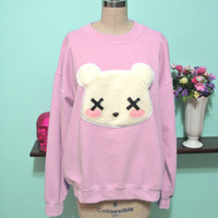 Deaddy Bear - Dead Teddy Bear Oversized Sweatshirt