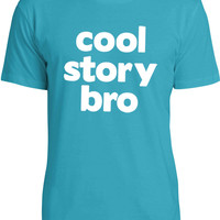 Cool Story Bro (White) Mens Fine Jersey T-Shirt