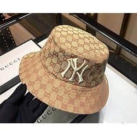 GUCCI x MLB co-branded men and women visor hat fisherman hat