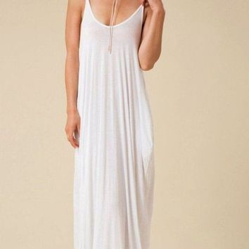 The Mila Maxi Dress - White