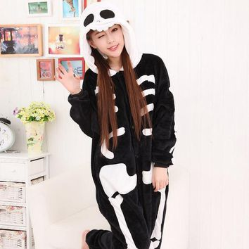 PEAPIX3 Cartoons Sleepwear Winter Couple Animal Home Set Halloween Costume [9221226628]