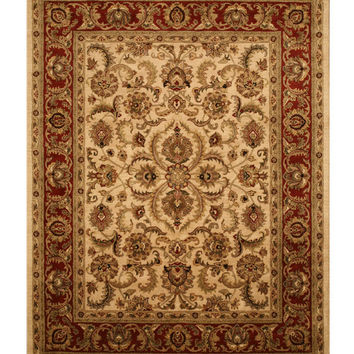 Hand-tufted Wool Ivory Traditional  Persian Rug