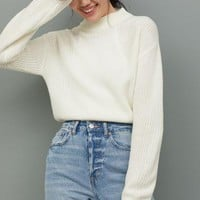 Knit Mock-turtleneck Sweater - White - Ladies | H&M US