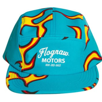 FLOGNAW MOTORS FLAME CAMP HAT BLUE